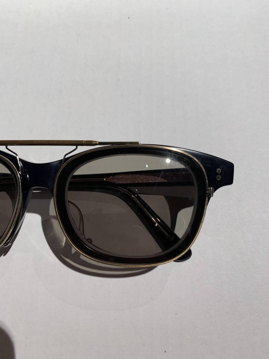 白山眼鏡 クリップオン 付き 2WAYメガネ アイウェア サングラス 眼鏡 _画像3