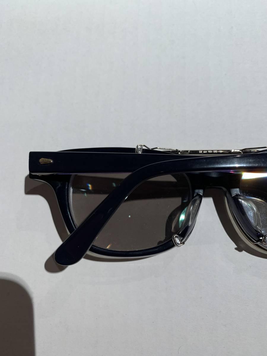 白山眼鏡 クリップオン 付き 2WAYメガネ アイウェア サングラス 眼鏡 _画像4