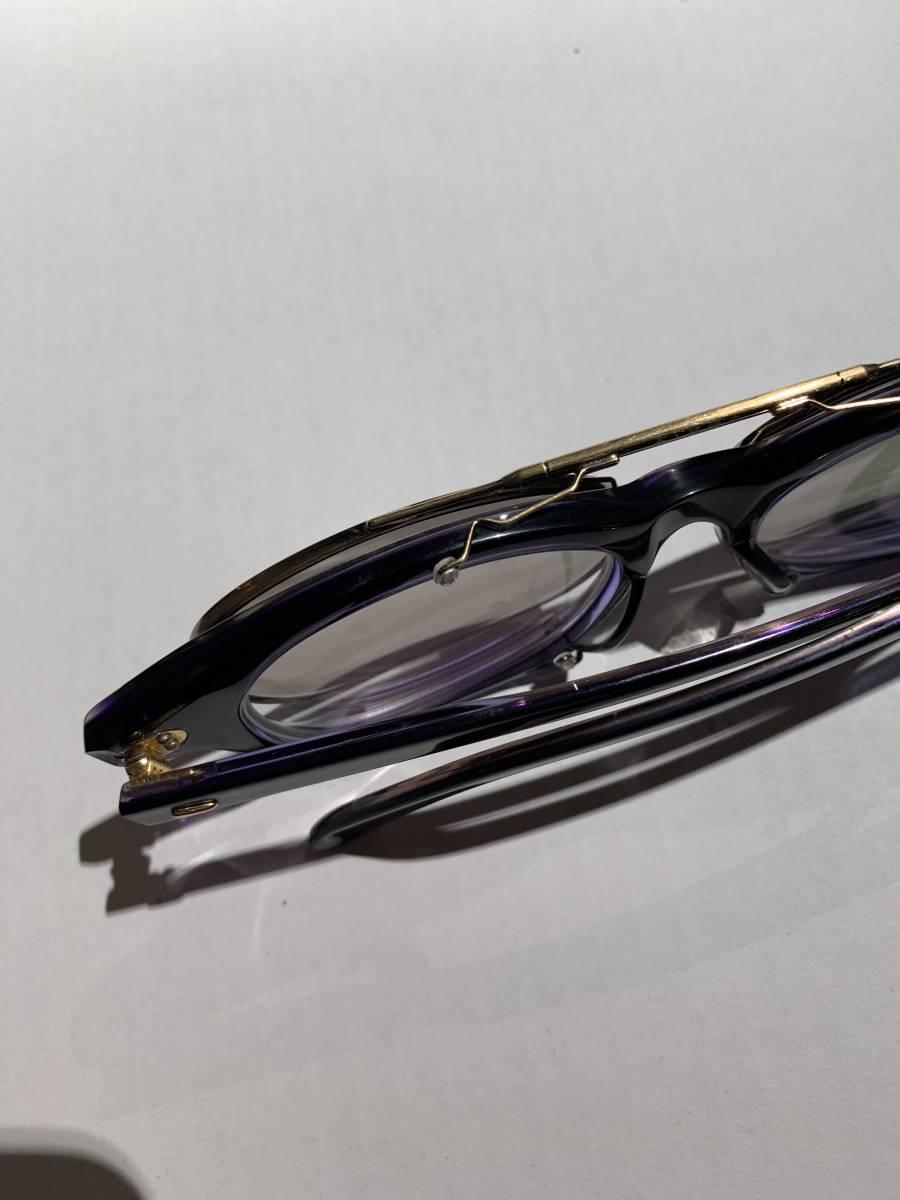 白山眼鏡 クリップオン 付き 2WAYメガネ アイウェア サングラス 眼鏡 _画像6