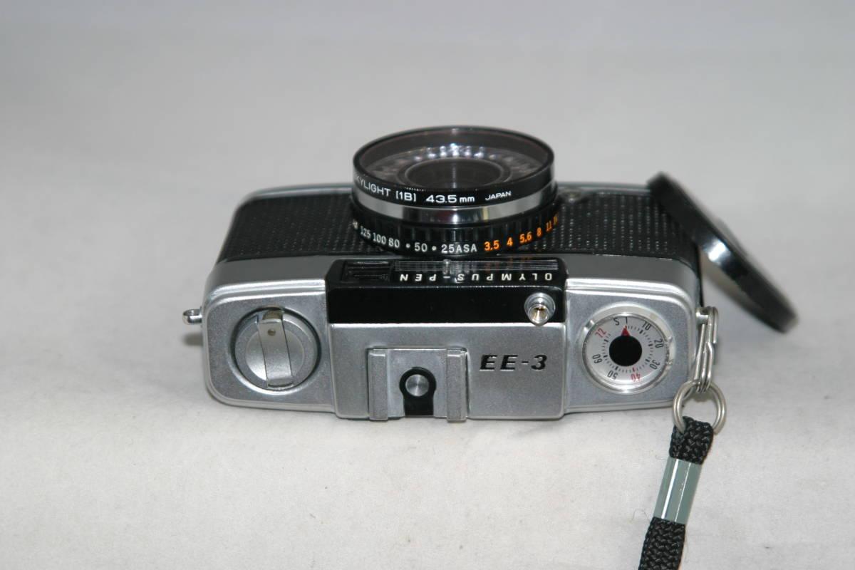 オリンパスペン EE-3 整備済 モルト張替済 レンズキャップ・フィルタ・ストラップ付き_画像2