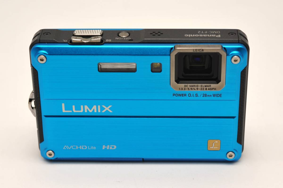 良品 パナソニックPanasonic DMC-FT2 スプラッシュブルー 付属品全て有り 元箱のみ無し 防水カメラ