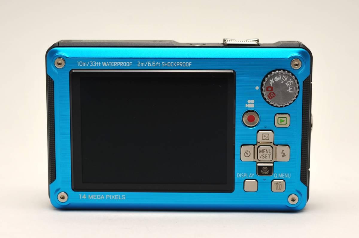 良品 パナソニックPanasonic DMC-FT2 スプラッシュブルー 付属品全て有り 元箱のみ無し 防水カメラ_画像2