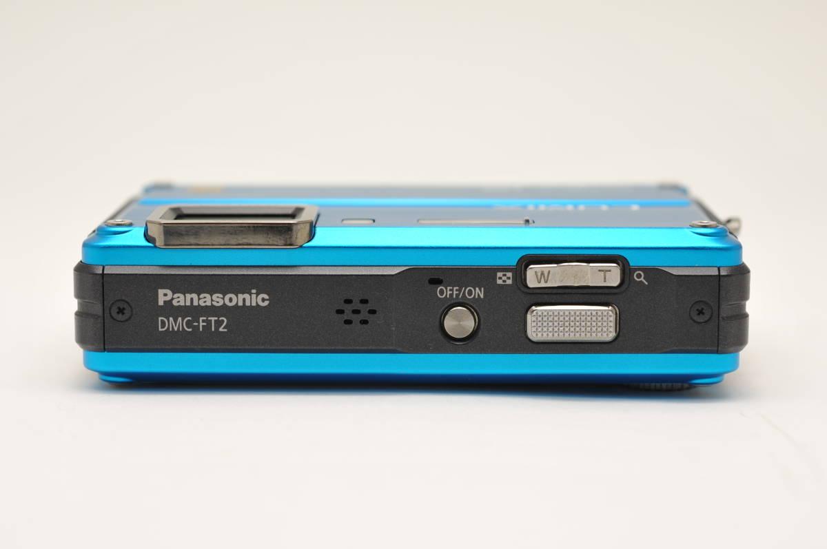 良品 パナソニックPanasonic DMC-FT2 スプラッシュブルー 付属品全て有り 元箱のみ無し 防水カメラ_画像4