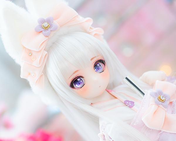 DDH-01 カスタムヘッド セミホワイト肌 桜姫2019 ~哀~ RonshukaCouture_画像3