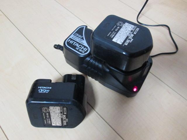 ●HITACHI 急速充電器 + 蓄電池