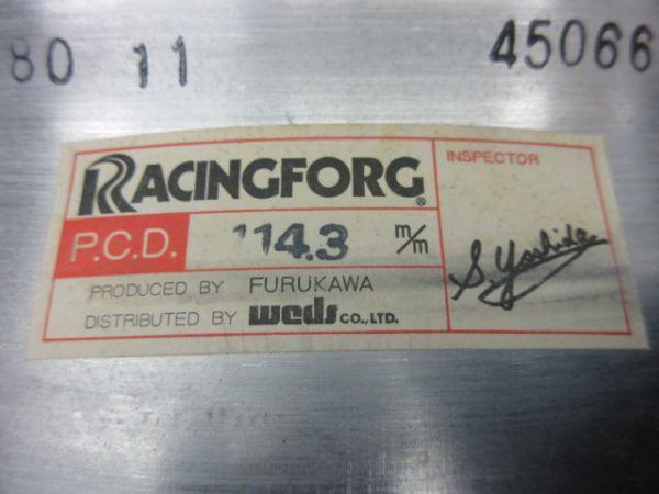 中古ホイール FURUKAWA 古河アルミニウム RACINGFORG レーシングフォージ FURALCO 14インチ 6.5J +14 114.3 4穴 ハブ径 75mm 1台分 当時物_画像10
