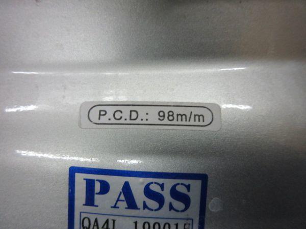 中古ホイール MAK トリノ 15インチ 6J +35 PCD 98 4穴 ハブ径 58.1mm 1台分 FIAT フィアット 500 プント パンダ_画像7