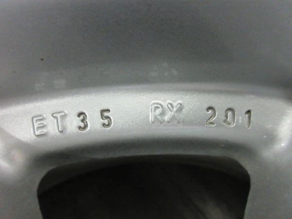 中古ホイール BBS RX201 17インチ 8J +35 PCD 112 5穴 1台分 1枚に歪みあり 恐らく再塗装品 VW フォルクスワーゲン アウディ など_画像8