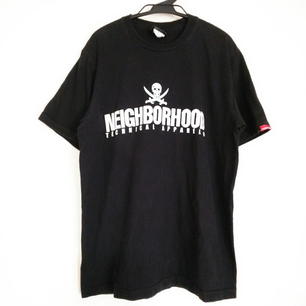 PV9 NEIGHBORHOOD ネイバーフッド メンズ M 半袖 Tシャツ 黒 ブラック ロゴ_画像1