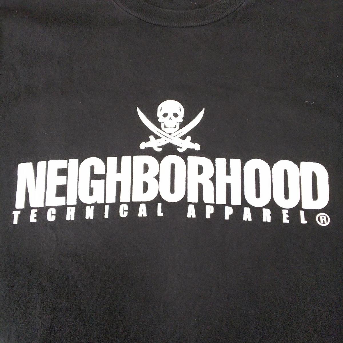 PV9 NEIGHBORHOOD ネイバーフッド メンズ M 半袖 Tシャツ 黒 ブラック ロゴ_画像3