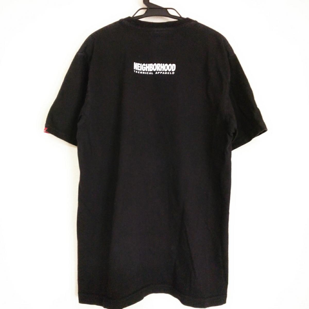 PV9 NEIGHBORHOOD ネイバーフッド メンズ M 半袖 Tシャツ 黒 ブラック ロゴ_画像2