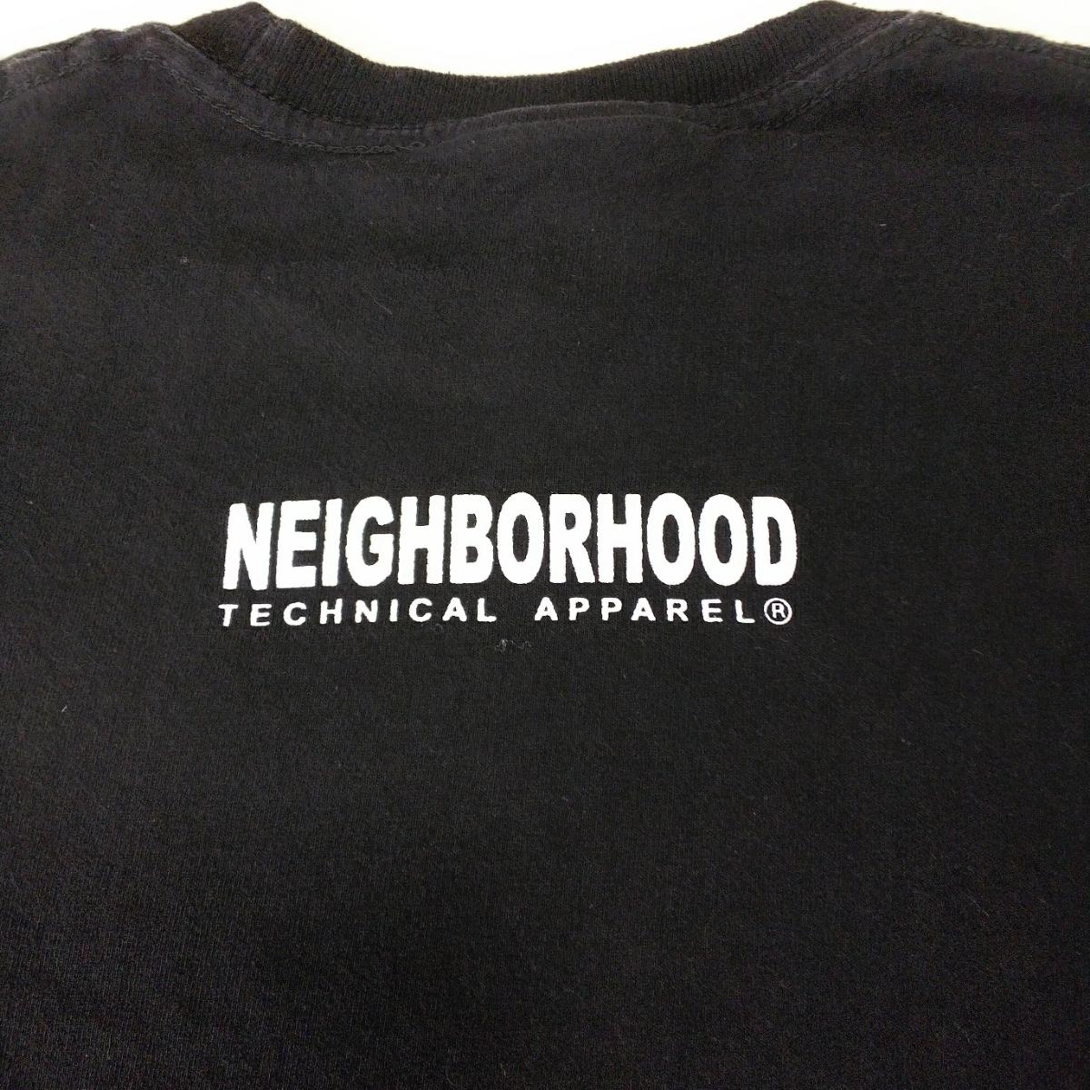 PV9 NEIGHBORHOOD ネイバーフッド メンズ M 半袖 Tシャツ 黒 ブラック ロゴ_画像4