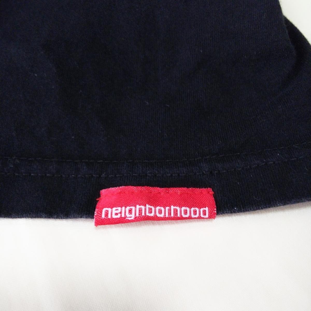 PV9 NEIGHBORHOOD ネイバーフッド メンズ M 半袖 Tシャツ 黒 ブラック ロゴ_画像5