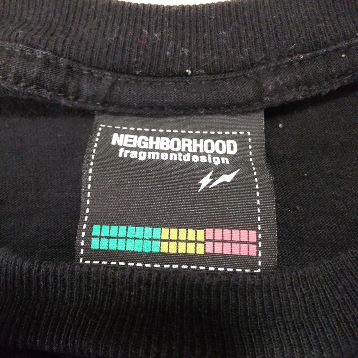 PV9 NEIGHBORHOOD ネイバーフッド メンズ M 半袖 Tシャツ 黒 ブラック ロゴ_画像8