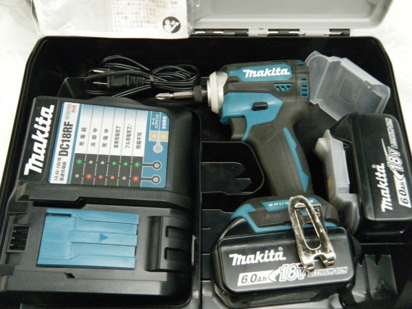 【中古品】マキタ 充電式インパクトドライバ TD171DRGX 6.0Ah/18V 製造番号292133_画像2