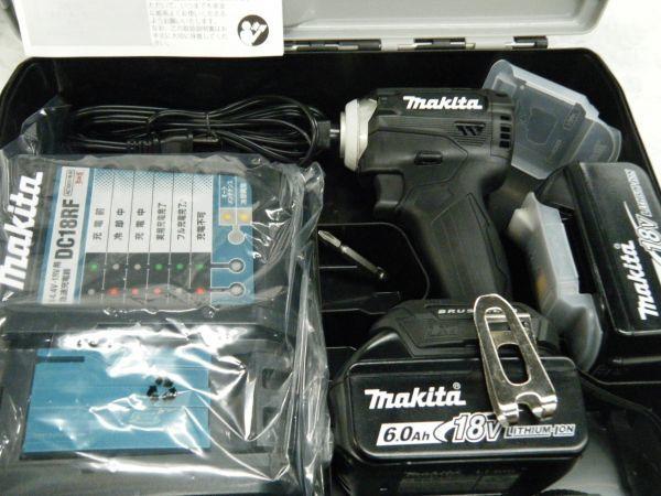 *【未使用品】* マキタ 充電式インパクトドライバ TD171DRGX(B)ブラック 6.0Ah/18V 製造番号181448_画像2