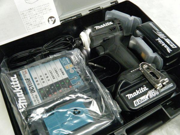 *【未使用品】* マキタ 充電式インパクトドライバ TD171DRGX(B)ブラック 6.0Ah/18V 製造番号181448_画像8