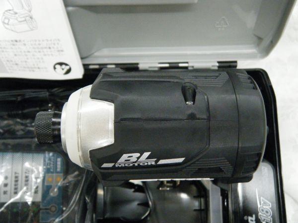 *【未使用品】* マキタ 充電式インパクトドライバ TD171DRGX(B)ブラック 6.0Ah/18V 製造番号181448_画像5
