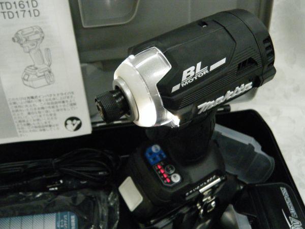 *【未使用品】* マキタ 充電式インパクトドライバ TD171DRGX(B)ブラック 6.0Ah/18V 製造番号181448_画像3