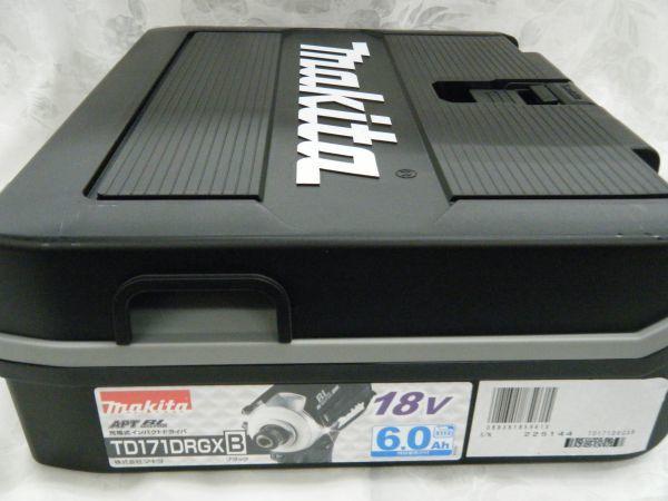*【未使用品】*マキタ 充電式インパクトドライバ TD171DRGX(B)ブラック 6.0Ah/18V 製造番号225144