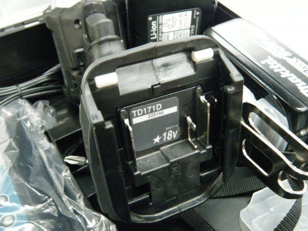 *【未使用品】*マキタ 充電式インパクトドライバ TD171DRGX(B)ブラック 6.0Ah/18V 製造番号225144_画像7