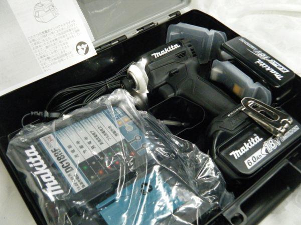 *【未使用品】*マキタ 充電式インパクトドライバ TD171DRGX(B)ブラック 6.0Ah/18V 製造番号225144_画像8