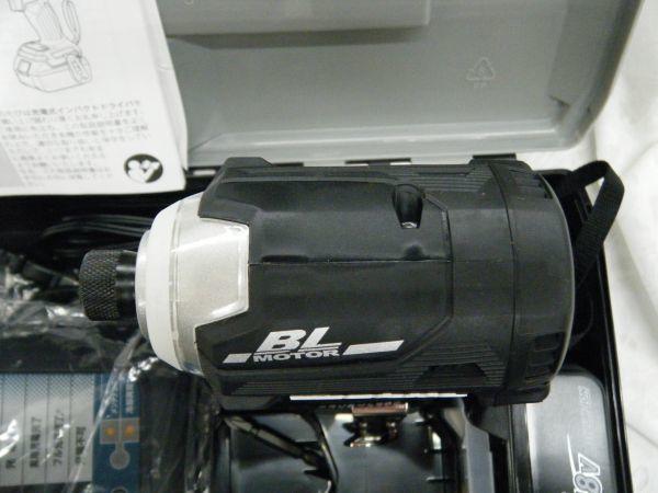 *【未使用品】*マキタ 充電式インパクトドライバ TD171DRGX(B)ブラック 6.0Ah/18V 製造番号225144_画像5