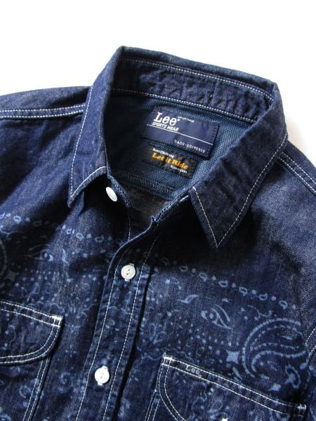 送料210円~!【 Lee × Let It Ride 】 nano・universe別注 バンダナ デニムワークシャツ ・ メンズ リー_画像3