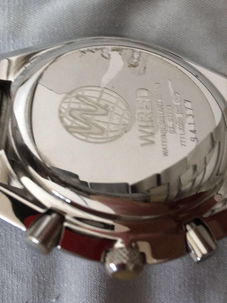 WIRED◆ワイアード クォーツ腕時計 アナログ 堅牢感のあるデザイン _画像5