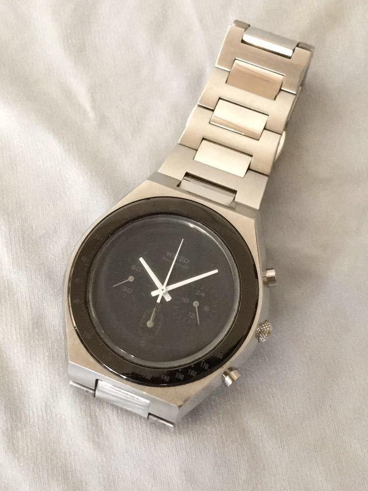 WIRED◆ワイアード クォーツ腕時計 アナログ 堅牢感のあるデザイン
