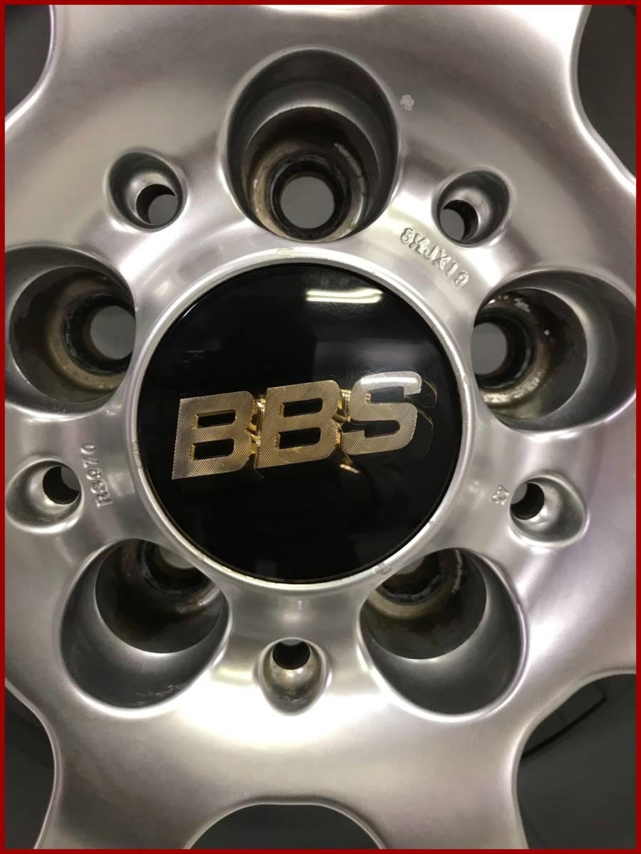 1円 ~ 売り切り スタート BBS RS-GT 970 19インチ 4本同サイズ クラウン IS-F IS300h GS ヴェルファイア マジェスタ 等_画像9