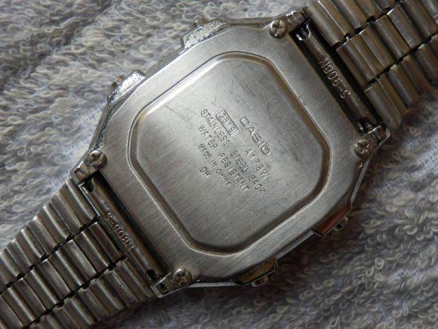 215 2 CASIO WR アラームクロノ デジタルウオッチ動品 送¥140~_画像5