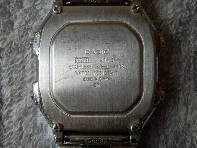 215 2 CASIO WR アラームクロノ デジタルウオッチ動品 送¥140~_画像6