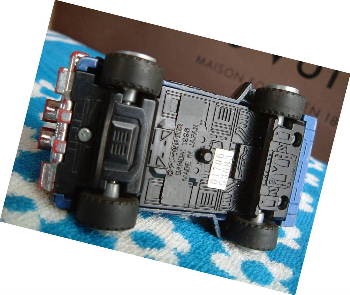 ◆レトロ 廃盤 1996年 バンダイ ジープ 戦隊物 ミニカー 日本製 テレビ朝日 JUNK_画像4