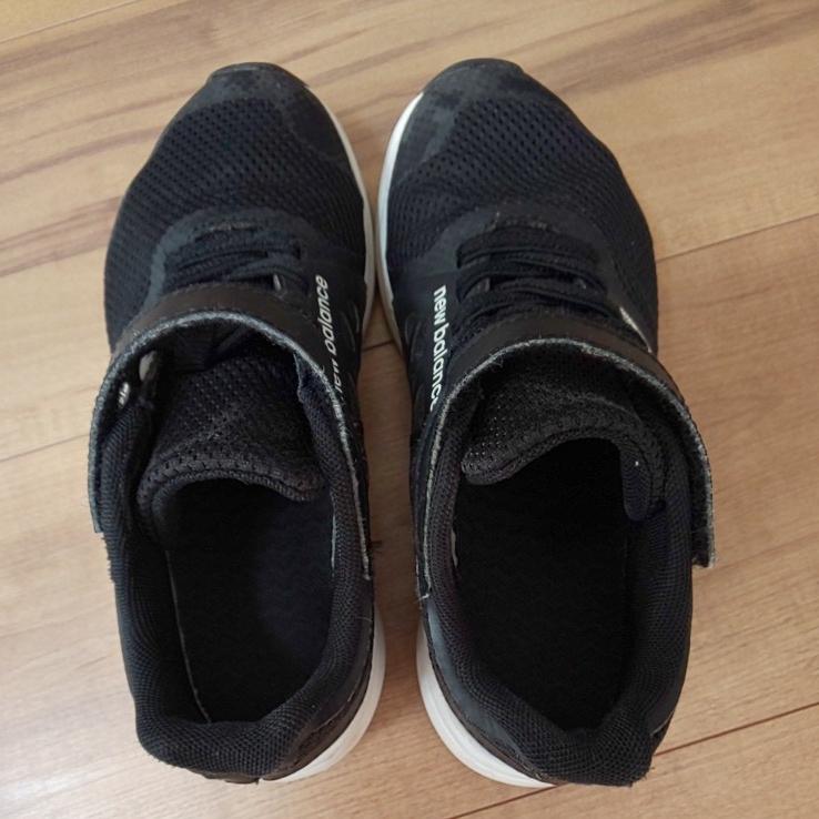 ニューバランス new balance スニーカー 入学式 運動靴 運動会 黒 男の子 女の子 マジックテープ 19 中古_画像6