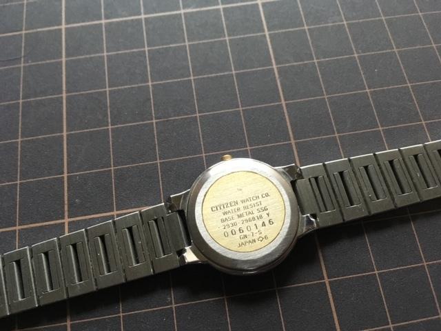 KK364 良好 レア ヴィンテージ CITIZEN/シチズン EXCEED エクシード コンビ 2930-296818 純正SSブレス クオーツ レディース 腕時計_画像6