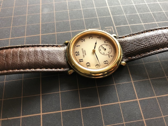 KK417 稀少 レア ヴィンテージ SEIKO/セイコー THE LEAGUE ザリーグ スモセコ 2628-6120 クオーツ メンズ 腕時計_画像5
