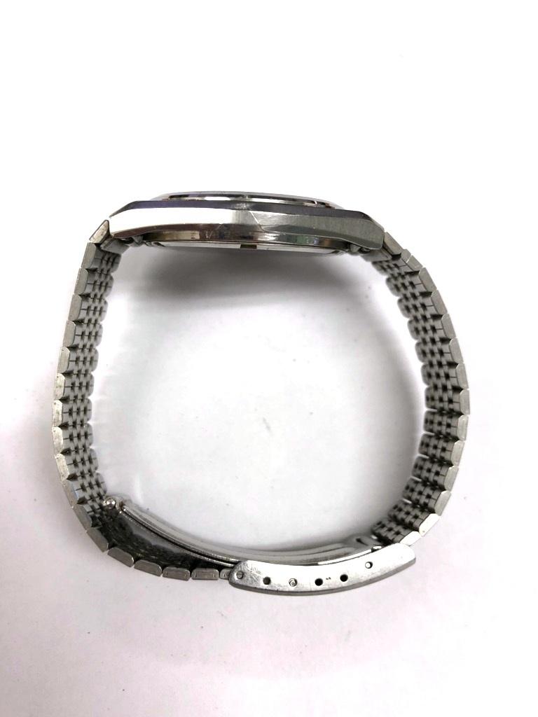 【中古品】SEIKO/セイコー Silver Wave/シルバーウェーブ クォーツ メンズ 腕時計 5933-700A 黒文字盤 デイデイト 電池切れ_画像7