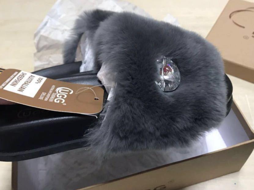 新品 オーストラリア TasmanUGG ムートンスリッパグレー22.5cm~23cm_画像2