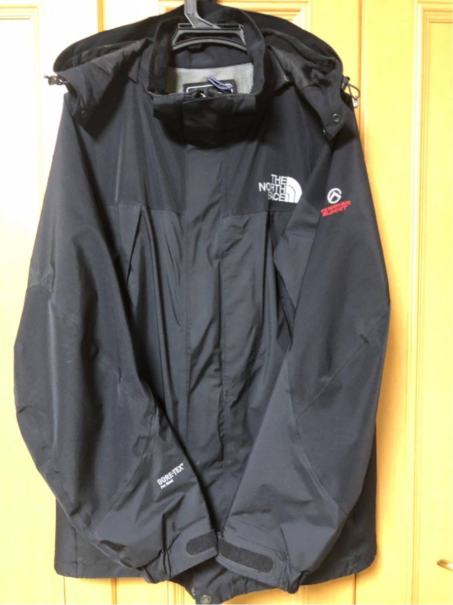 【 美品 】THE NORTH FACEノースフェイス GORE-TEXマウンテンライトジャケット メンズL 黒ブラック ゴアテックス防水パーカー サミット