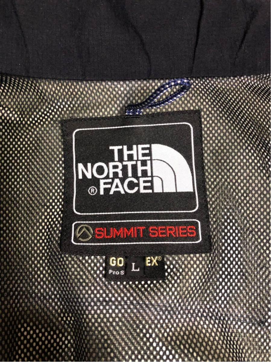 【 美品 】THE NORTH FACEノースフェイス GORE-TEXマウンテンライトジャケット メンズL 黒ブラック ゴアテックス防水パーカー サミット_画像6