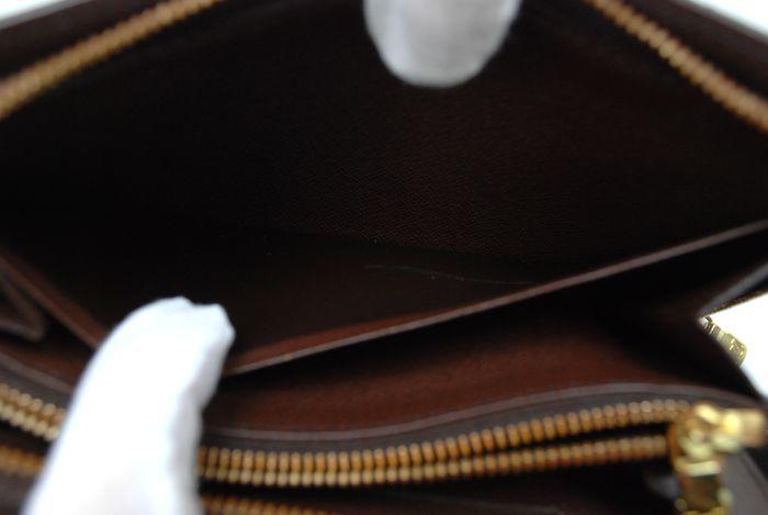 【最落無 極美品】ルイヴィトン Louis Vuitton ダミエ ジッピーウォレット 長財布 レザー メンズ レディース 美品 本物 1円 定価約10万_画像9