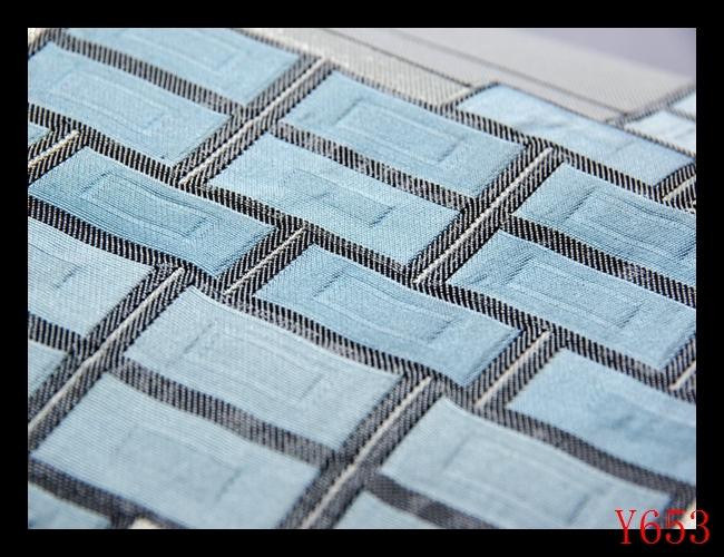 【J653】西陣織美品 正絹 シルバー空色紺碧 幾何学文様 高級美術名古屋帯 検★着物袋帯名古屋帯和装小物帯_画像4