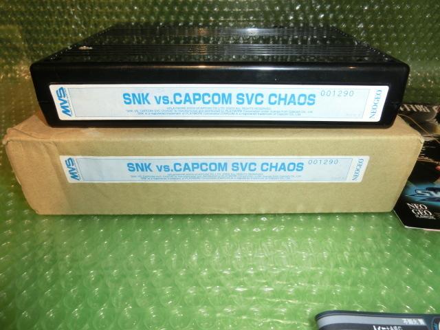 シリアル一致 SNK VS. CAPCOM SVC CHAOS カートリッジ版 インスト 箱 取説付 PLAYMORE SNK VS CAPCOM SVC カオス プレイモア NEOGEO MVS_画像2