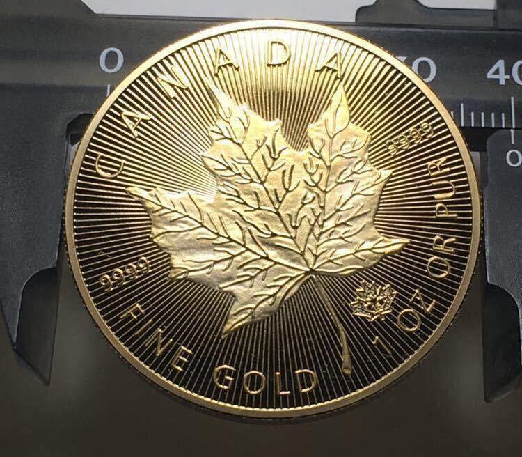 カナダ メイプルリーフ金貨 1oz 1オンス 2015年 コレクション メダル 約29グラム 極美品_画像4