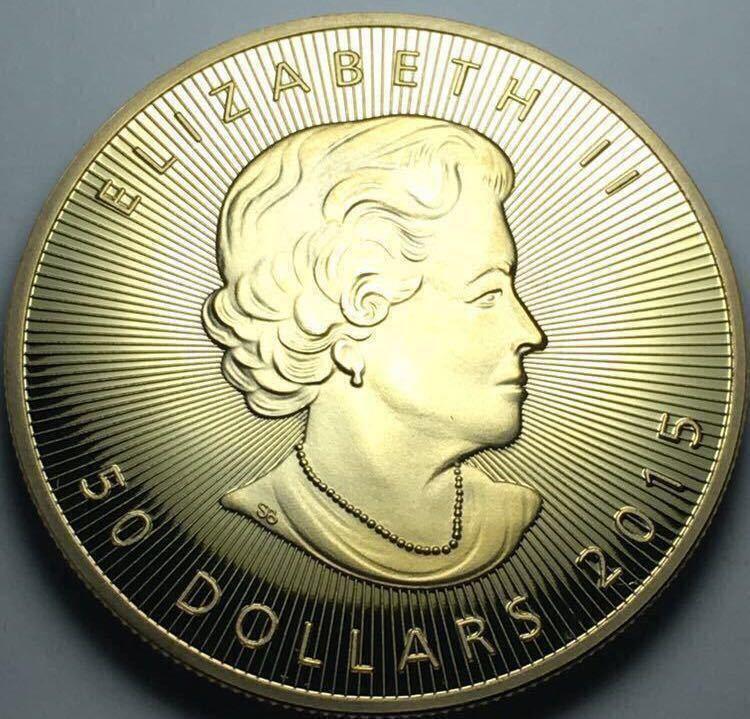 カナダ メイプルリーフ金貨 1oz 1オンス 2015年 コレクション メダル 約29グラム 極美品