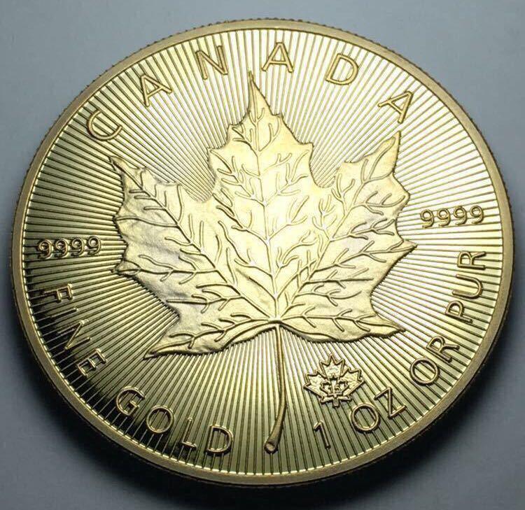 カナダ メイプルリーフ金貨 1oz 1オンス 2015年 コレクション メダル 約29グラム 極美品_画像2