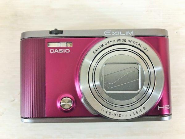 S1223-190422-99【中古】CASIO デジタルカメラ EXILIM 自分撮りチルト液晶 EX-ZR1700WR ワインレッド_画像6