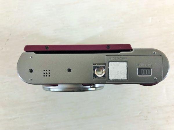 S1223-190422-99【中古】CASIO デジタルカメラ EXILIM 自分撮りチルト液晶 EX-ZR1700WR ワインレッド_画像8