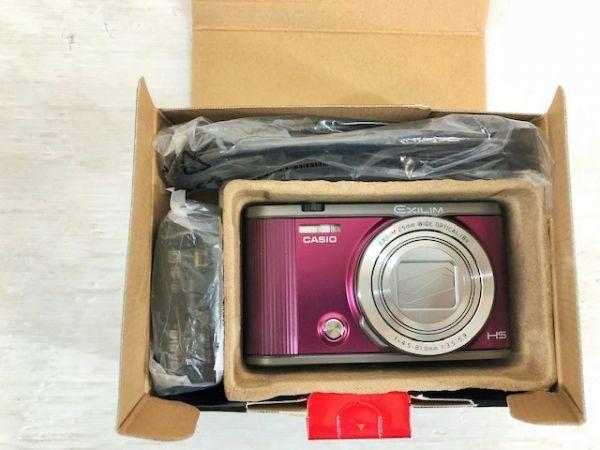S1223-190422-99【中古】CASIO デジタルカメラ EXILIM 自分撮りチルト液晶 EX-ZR1700WR ワインレッド_画像5